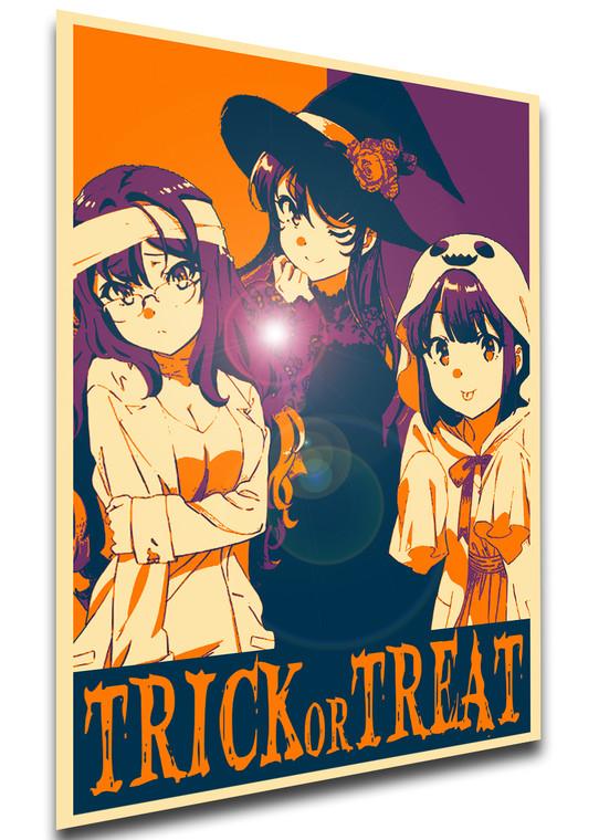 Poster Propaganda Helloween - Trick or Treat - Rascal Does Not Dream of Bunny Girl Senpai - Characters SA0913