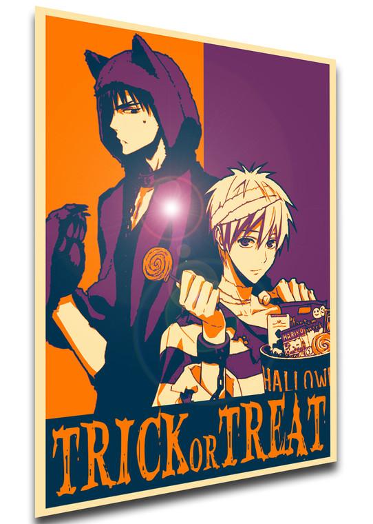 Poster Propaganda Helloween - Trick or Treat - Kuroko's Basket - Kagami & Kuroko SA0914