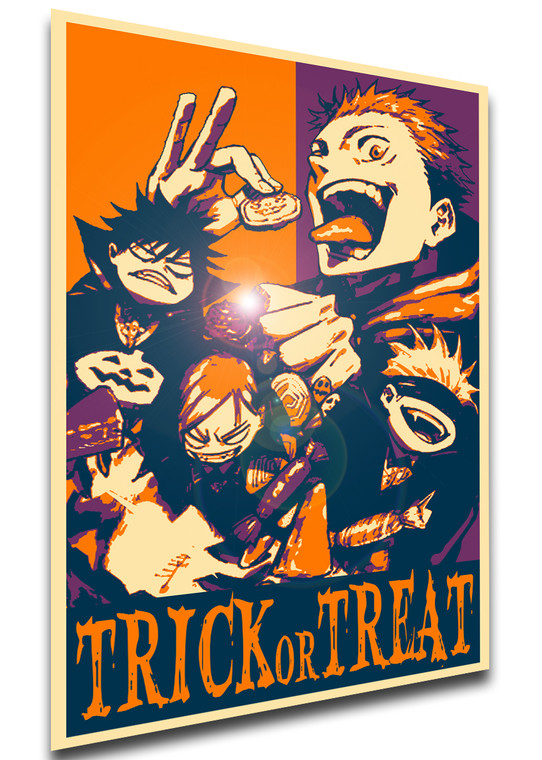 Poster Propaganda Helloween - Trick or Treat - Jujutsu Kaisen - Characters SA0915