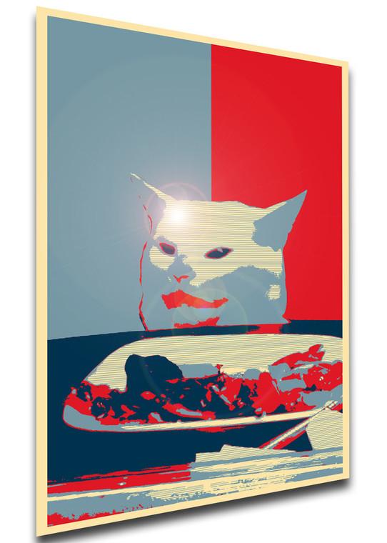 Poster - Propaganda - MA0312 - Meme - Woman Yelling at a Cat