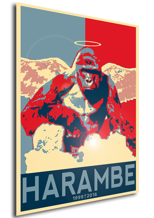 Poster Propaganda Meme Harambe