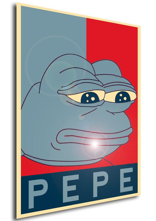 Poster Propaganda Meme Pepe