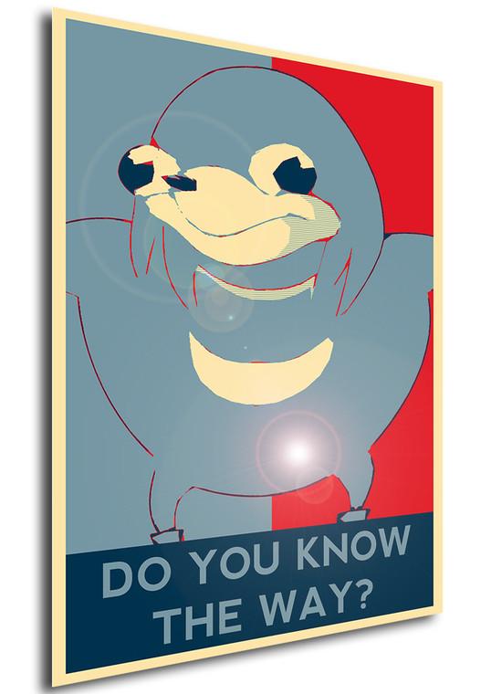 Poster Propaganda Meme Ugandan Knuckles