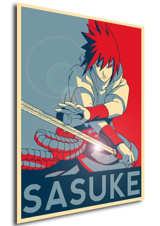 Poster Propaganda Naruto Sasuke Uchiha V