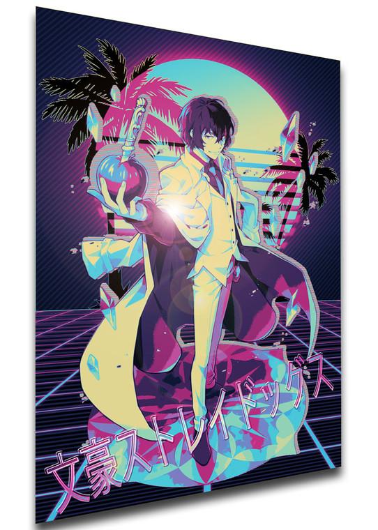 Poster - Vaporwave 80s Style - Bungo Stray Dogs - Dazai Dead Apple