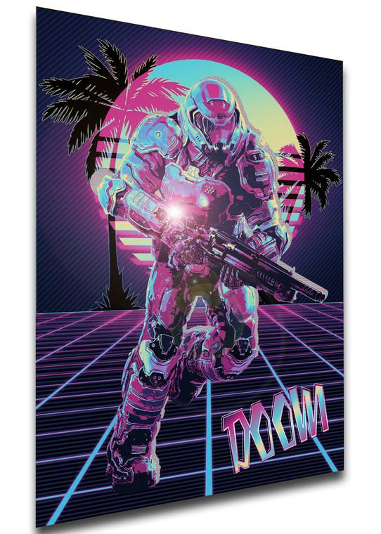 Poster - Vaporwave 80s Style - Doom - Character