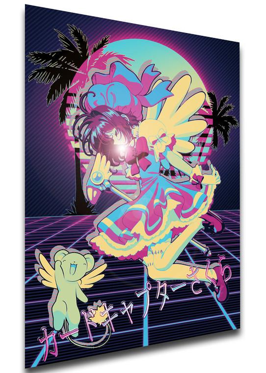 Poster - Vaporwave 80s Style - Card Captor Sakura - Sakura