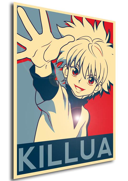 Poster Propaganda Hunter x Hunter Killua V