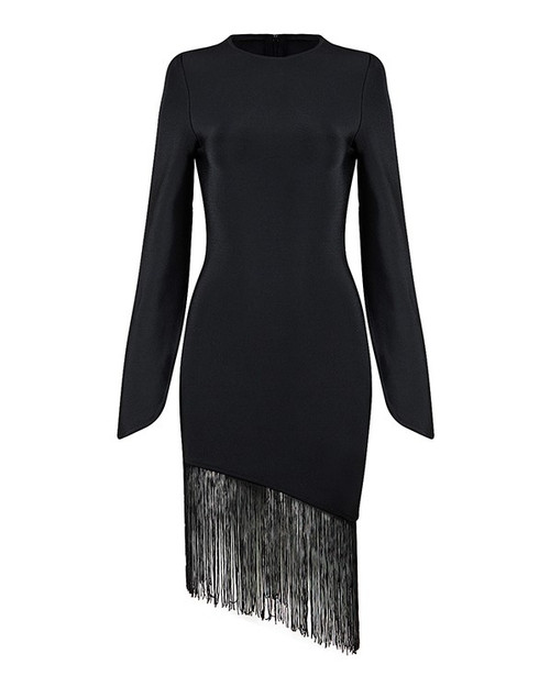 FIGARO BANDAGE FRINGE DRESS