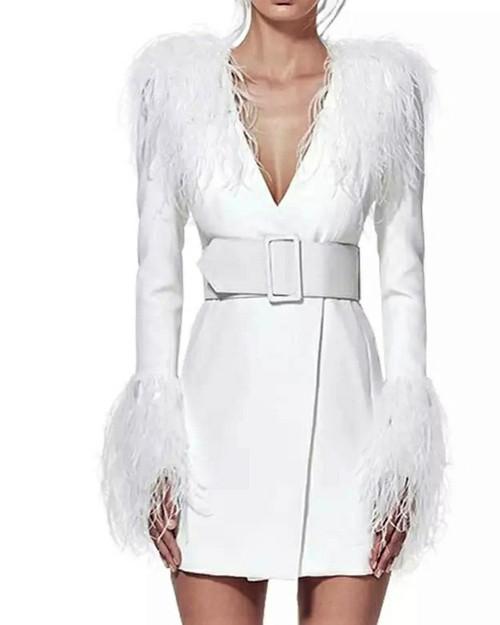 Figaro Couture White Feather
