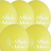 5 Baby Shower Yellow Balloons