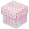 Gingham Pink Square Box With Lid (1)