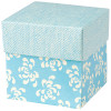 DIY Retro Blue Favour Box with lid (5cmx5cmx5cm)