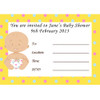 Baby Shower Host White Invites (8)