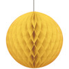 Yellow Honeycomb Ball Paper Decoration (1)
