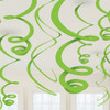 Green Paper Swirl Decorations (8)