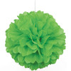 Paper Puff Ball Decoration In Green (1)