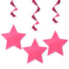 Hanging Star Decorations In Pink (3)