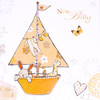 New Baby Neutral Sailing Boat Greetings Card