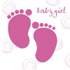 Girl Baby Shower Feet Greetings Card