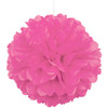 Paper Puff Ball Decoration In Pink (1)