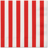 Red Striped Lunch Napkins (16)