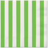 Lime Green Striped Lunch Napkins (16)