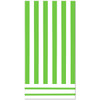 Lime Green Striped Plastic tablecover (84