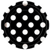Black Big Polka Dot Dessert Plates (8)
