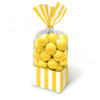 Candy Buffet Striped Party Bags Sun Yellow (10)