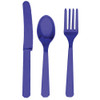 Dark Purple plastic Cutlery (8)