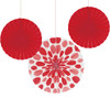 Tissue Fan Assortment Red (3)