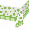 Chevron Fresh Lime Tablecover (52in x 102in)