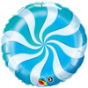 Candy Swirl Blue Foil Balloon (18in)