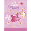 Pink Clothesline Baby Shower Invites (8)