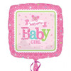 Welcome Baby Girl Butterfly Foil Balloon