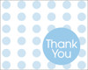 Thank you cards Blue Dots (8)