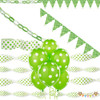 Room Decorating Kit Green Polka Dot