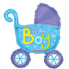 It's A Boy Pram Airfilled Foil Balloon (14in)