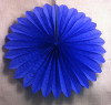 Mini Dark Blue Hanging Fan Decorations (3)