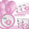 Baby Shower  Girl Pink Elephant Basic Party pack  (8 Guests)