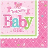 Welcome Baby Girl Lunch Napkins (16)
