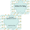 Prediction,  Advice , Wishes Little Keepsake Cards Mint Raindrop (30)