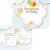 Baby Prediction Cards White Baby (16 Guests)