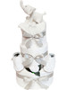 3 tier Baby Moi luxury swaddle nappy cake