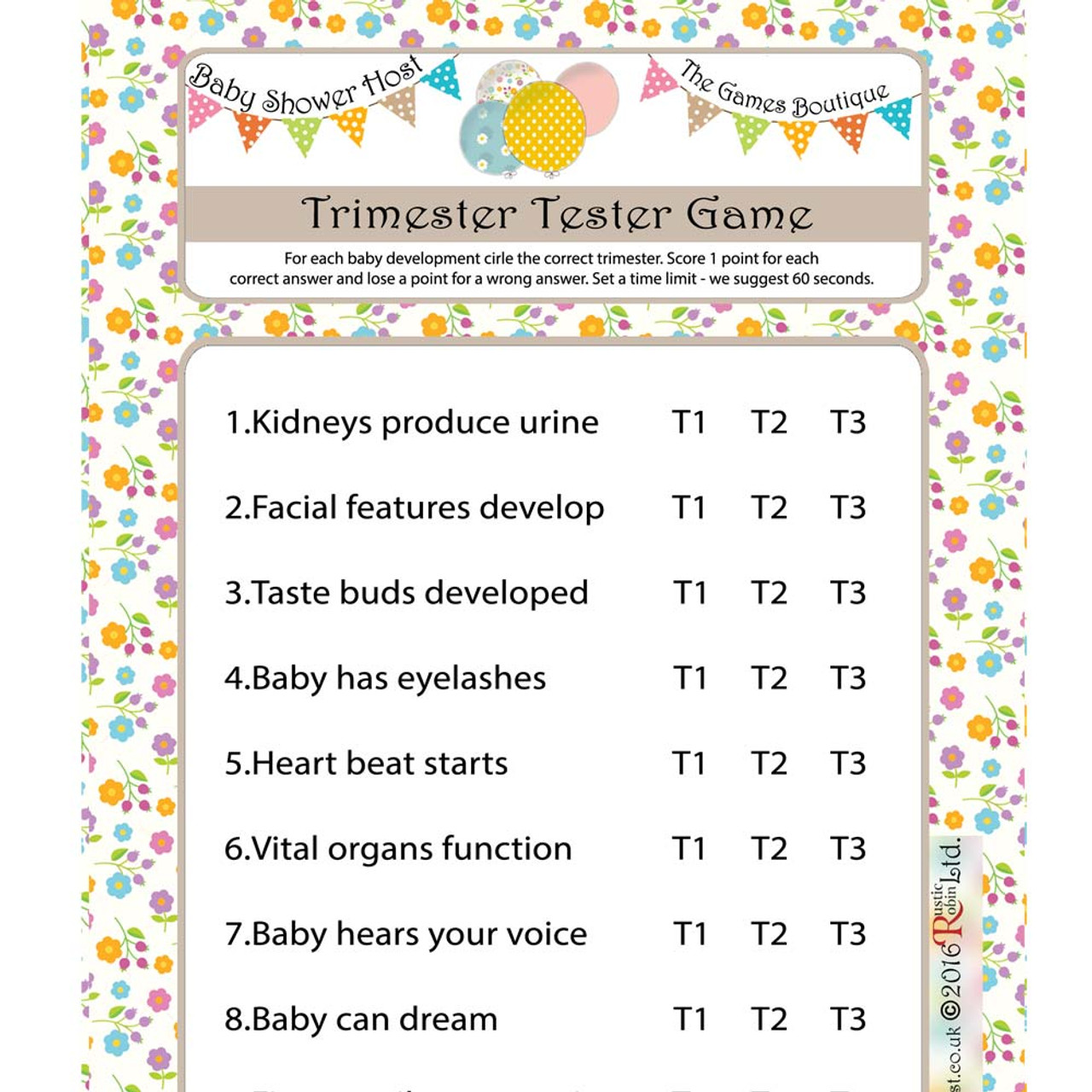 Pregnancy Quiz Games Baby Shower Games Baby Shower Host