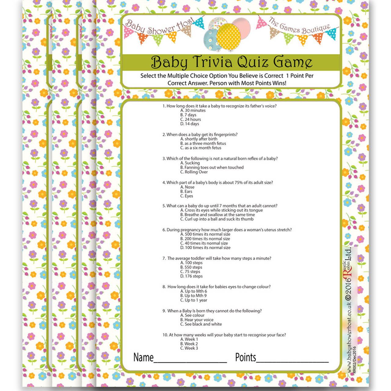 Baby Shower Quiz Game Baby Shower Games Baby Shower Host