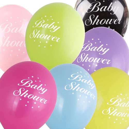 5 Baby Shower Balloons Assorted Colours