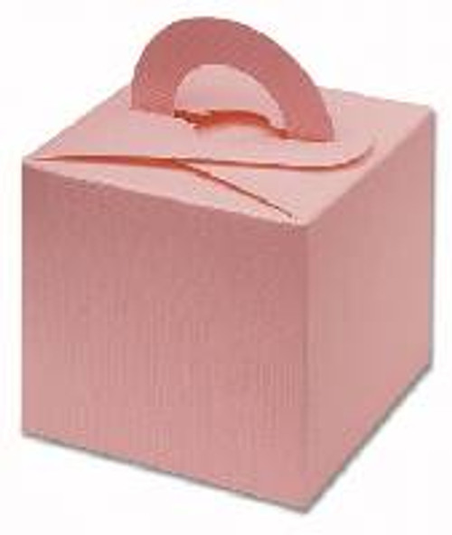 Silk Square Box With Handles - Pink (DIY)