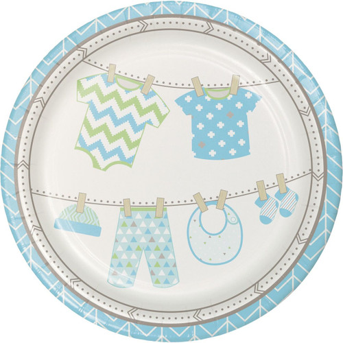 Bundle of Joy Boy Lunch Plates (8)